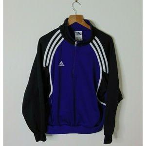 Vintage Adidas Small Pullover Track Jacket Purple
